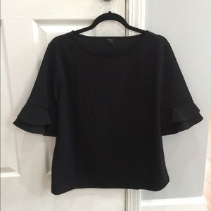 Ann Taylor Top with Bell Sleeves